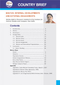 Bhutan: Internal Developments and External Engagements