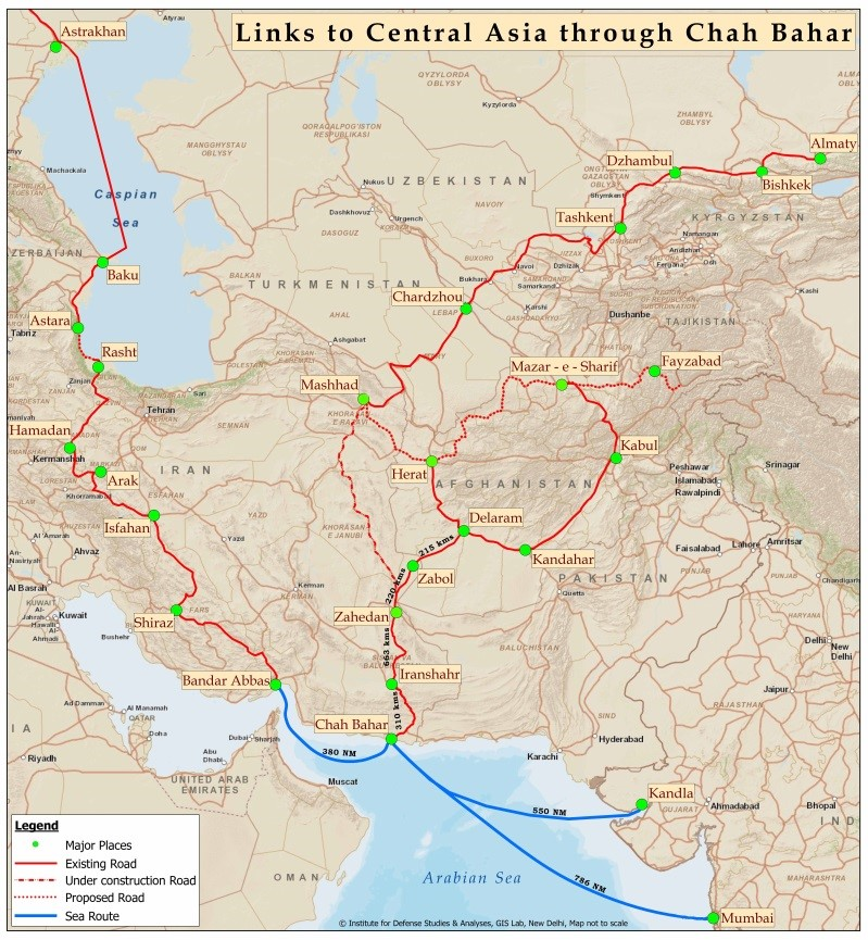 Link to Central Asia Through Chah Bahar