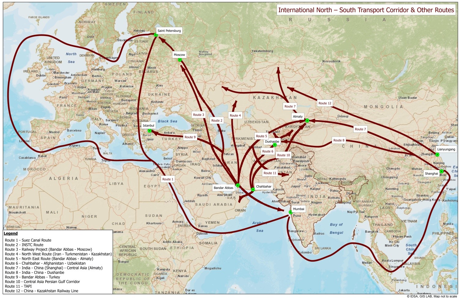 RIAC :: INSTC: India-Russia's Trade to Get a Major Boost India Trade Route Map on india china map, india trade route art, india road map, india terrain map, india travel map, india culture map, india british empire map, india africa map, india russia map,